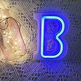QiaoFei - Lettere luminose con luci al neon, decorazione da parete/tavolo per casa, bar, Natale, festa di compleanno, San Val