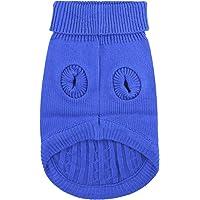 FakeFace Hunde Strickjacke, Winterpulli Hunde Strickpullover Bekleidung Hundepulli Winter Pullover Warm und komfortable…