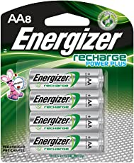 Energizer Power Plus NiMH AA Rechargeable Batteries, 8-count (2300 mAh, Pre-Charged)