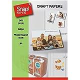 SNAP SP-32-7 Lot de 7feuilles de papier photo magnétique à imprimer, pour imprimantes à jet d'encre, épaisseur de 0,30mm, f