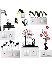 Sky Solution Decals Sticker Switch Board Sticker Light Switches Sticker Combo Set of 6