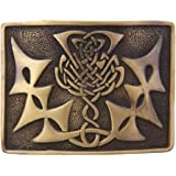 Men's Scottish Kilt Belt Buckles Various Design Brass Finish