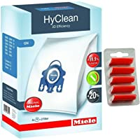 Genuine GN HyClean 3D Efficiency Dust Bags For Miele Vacuum Cleaners + Free Fresheners