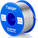 TABIGER Solder Wire, Lead Free Solder Rosin Core Tin Wire 97Sn-2Rosin-0.7Cu-0.3Ag, 0.8mm, 100g