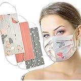Lilind - Set di 3 maschere per il viso, traspiranti, realizzate a mano nel Regno Unito, riutilizzabili, lavabili e 100% coton