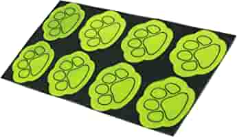 Reflective Safety Stickers High Vis Smiley Footprint Walking Dark Secure Q