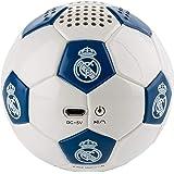 Real Madrid - Altavoz Inalámbrico Balón, Blanco/Azul