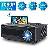 Proiettore WiFi FANGOR Videoproiettore Full HD Proiettore 1080P Nativo 6500 lumen Correzione tropezoidale 4K Proiettore…