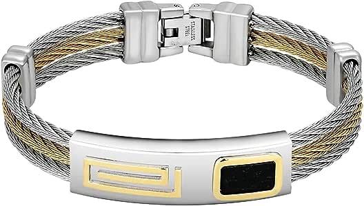 Mode indien Bracelet Métal Set Fil Enroulé Ton Or Bracelet Lot De 4 Pc 2 6
