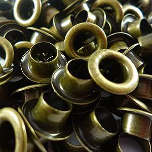 8 mm 5 mm 10 mm 4 mm 12 mm 6 mm 3 mm Leder f/ür Reparaturarbeiten Abbeytops /Öse mit Unterlegscheibe 14 mm