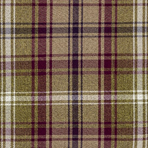 McAlister Textiles Signature Kollektion | Angus Stoff im Tartan-Muster kariert in Maulbeere 140cm Breite | per Meter | Textil Material -