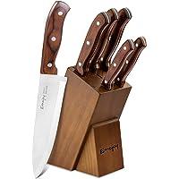 Emojoy Couteaux de Cuisines Professionnels, Ensemble de Couteaux, 6 Pièces Set Couteaux Cuisine en Acier Inoxydable…