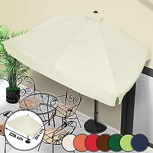 2,7/m di larghezza con inclinazione e manovella/ Ombrellone da giardino /disponibile in 7/colori