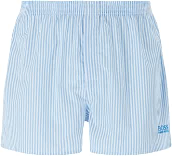 BOSS Mens NOS Boxer CW 2P Two-Pack of Pyjama Shorts in Cotton poplin