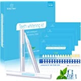 Blanqueador Dental, Kastiny 56 Tiras Blanqueadoras Dientes con 3 Gel de Blanqueamiento No Sensible, Teeth Whitening Kit Pen W