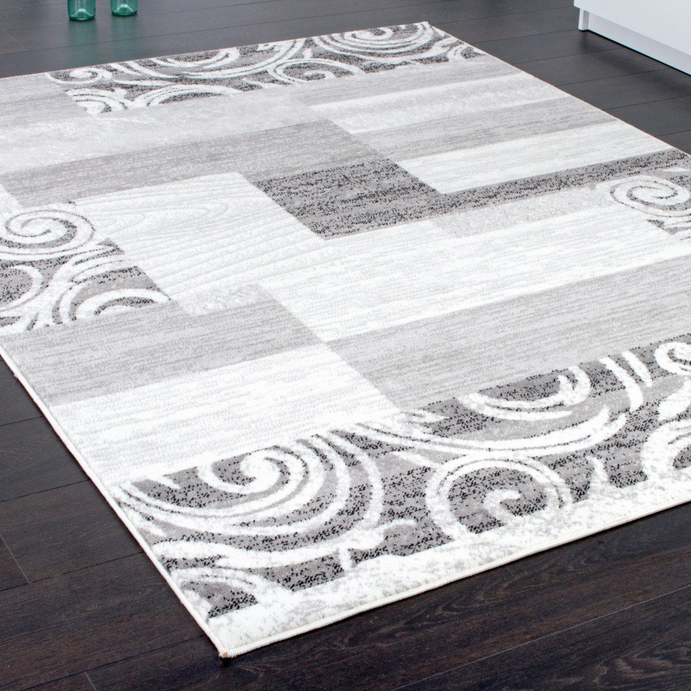 Designer Teppich Wohnzimmer Kurzflor Muster In Grau Creme Preishammer Grsse60x100 Cm Amazonde Kche Haushalt