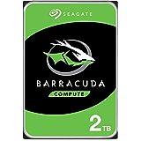 """Seagate BarraCuda, 2 To, Disque dur interne HDD – 3,5"""" SATA 6 Gbit/s 7 200 tr/min, 256 Mo de mémoire cache, pour PC de bureau"""