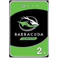 """Seagate BarraCuda, 2 To, Disque dur interne HDD – 3,5"""" SATA 6 Gbit/s 7 200 tr/min, 256 Mo de mémoire cache, pour PC de…"""