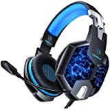 YINSAN TM5, Cuffie Gaming per PS4, Cuffie PS4 Over Ear con Microfono, RGB LED, Audio Cavo 3.5mm e Controllo del Volume, Gamin