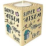 Gravure Events Bougie personnaliséeSuper Atsem Merci - Cadeau Atsem Personnalisable avec Le prénom de l'enfant - Cadeau Orig