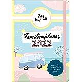 Familienplaner 2021 Hardcover mit 5 Spalten für bis zu 5 Personen in DIN A5. Familienkalender 2021 mit Extra-Seiten für viel