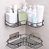 Opslag voor douche-organizer, badkamerplanken, douchebus met roestvrijstalen zelfklevende sticker voor keuken- en badkameracc