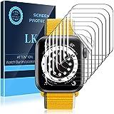 LK 8 Pack Protector Pantalla Compatible con Apple Watch Series 6 SE 40mm, TPU-Film,Alta definición,Sensible al Tacto