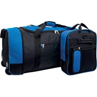 iN Travel Foldable Holdall Luggage Bag with Plastic Wheels. Use as a Lightweight Luggage Bag Suitcase or Backpack. Ideal…