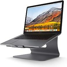 Bestand Verbesserte Alulegierung Cooling Laptop Stand, geeignet für Apple Macbook, alle Notebooks, Grau (Patentiert)