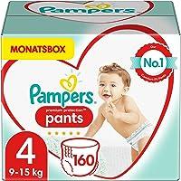 Pampers Baby Windeln Pants Größe 4 (9-15kg) Premium Protection, 160 Höschenwindeln, MONATSBOX, Weichster Komfort Und…