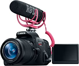 Canon EOS Rebel T5i Video Creator Kit with 18-55mm Lens, Rode VIDEOMIC Go and Sandisk 32GB SD Card Class 10