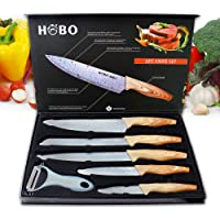 Ensemble de couteaux de cuisine professionnels, Hobo, en acier inoxydable, un couteau de chef, un couteau à pain, un…