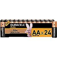 Duracell Plus AA Alkaline Batteries [Pack of 24], 1.5 V LR06 MX1500