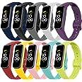 Molitececool Kompatybilny z Samsung Galaxy Fit 2 SM-R 220 paskami, miękkie silikonowe zamienne paski do zegarków Samsung Gala