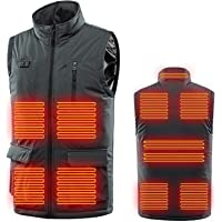Men's Heated Vest Electric Heated Jacket, Washable Heated Clothing Vest USB Charging Electric Body Warmer Gilet with 3…