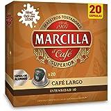 Marcilla Café Largo - 200 cápsulas compatibles con máquinas Nespresso*® (10 paquetes de 20 unidades)