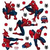 AG Design Marvel Spider Man muurstickers, PVC-folie (ftalate free), meerkleurig, 30 x 30 cm