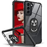 Leyi Siliconen Hoesje Compatibel met Samsung Galaxy S21, Schokbestendige Case voor Samsung S21,Zwart