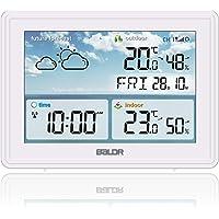SH.RATE 2021 Wetterstation Funk mit Außensensor und Farbdisplay Berührungsempfindliche Hintergrundbeleuchtung Digital…