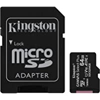 Kingston Canvas Select Plus microSD Card SDCS2/64 GB Class 10 (SD Adapter Included)