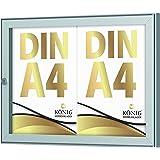 Showbox Keitum 2x DIN A4   B 485 × H 360 mm liggend formaat   weerbestendig voor binnen en buiten   afsluitbaar   ESG-veiligh