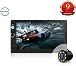 Woodman Doubledin WM-2020 with FM/Bluetooth/USB (1080px Full Hd) Car Stereo (Double Din) with Car LED Rear View Camera