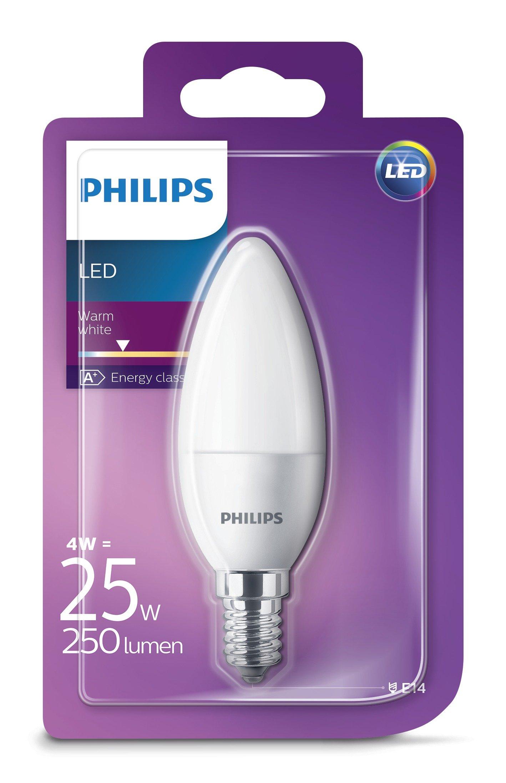 Philips Lampadine LED Candela, E14, 5.5 W Equivalenti a 40 W, 2700 K, Luce bianca calda, Confezione da 6 2 spesavip