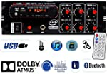 Axil Audio 4 Channel Home DJ Amplifier with Bluetooth, FM & USB Player 5500W PMPO GT-003