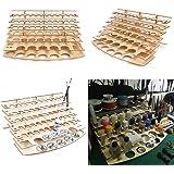 Tutoy 60 Pots en Bois Acrylique Couleur peintures Bouteille de Peinture étagère de Rangement Support Rack Desk Organisateur