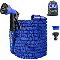 AILUZE Garden Hose 50Ft,Expanding Garden Water Hose Pipe with 8 Function Spray Gun,3 Times Expandable Watering Hose…