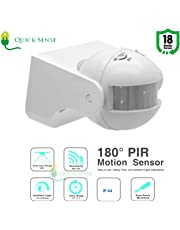 Quick Sense(Qs-09): 180` Wall-Mount PIR Motion Sensor Switch with Light Sensor, Energy Saving Sensor,LUX Adjustment, Time Adjustment,Automatic Sensor 220V