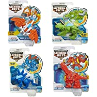 4 Pack Set: Playskool Transformers Rescue Bots Boulder Blades Chase and Heatwave the Rescue Dinobot Figures