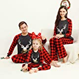 Family Matching Pyjamas Set, Kids Family Christmas Matching Outfits Parent-Child Outfit Women Men Kid Infant Plaid Nightwear