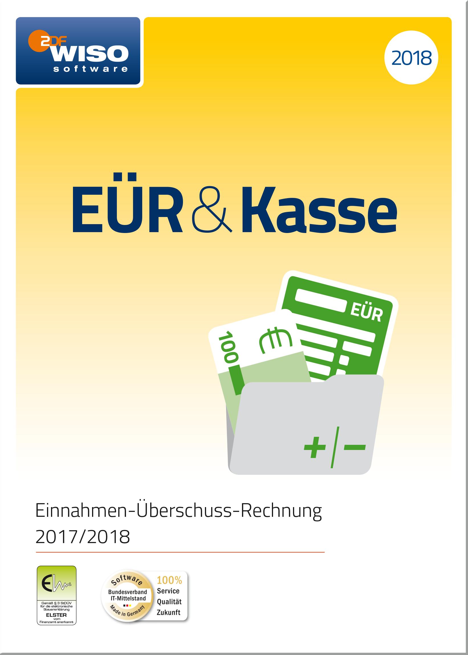 WISO EÜR & Kasse 2018: Für die Einnahmen-Überschuss-Rechnung 2017/2018 inkl. Gewerbe- und Umsatzsteuererklärung [Online Code] Kasse Software